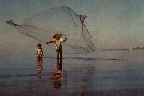 El pescador revolviendo el río. Fábula de Esopo con moraleja