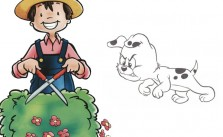 El jardinero y el perro. Fábula de Esopo con moraleja