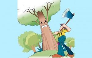El labrador y el árbol